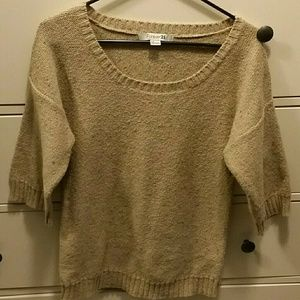Forever21 multi color half sleeve sweater